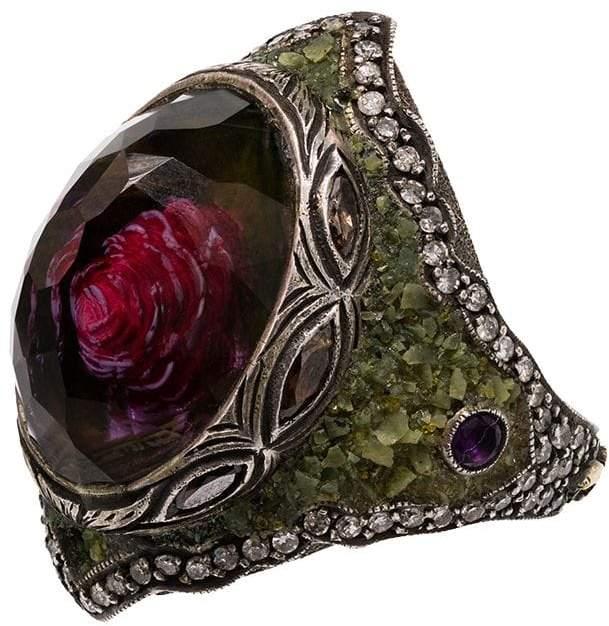 Sevan Biçakci amethyst rose ring