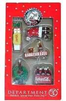 D.E.P.T Deptment 56 Coca Cola 75th Anniversary 5 Piece Mini Holiday Ornaments 56
