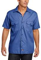 Dickies Men's Work Regular Fit Short Sleeve Casual Shirt,X-Large