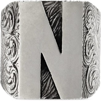 """Gucci """"N"""" letter ring in silver"""