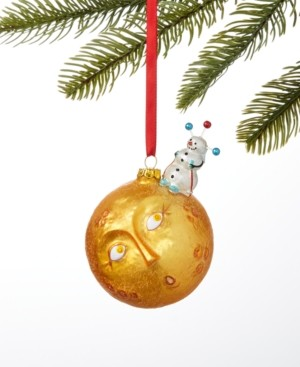 Holiday Lane Spaced Out Snowman on Sun Ornament, Created for Macy's