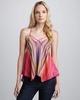 Amanda Uprichard Spyder Rainbow-Stripe Cami