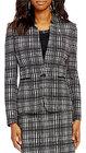Preston & York-preston york nicola vneck long sleeve jacquard suiting jacket