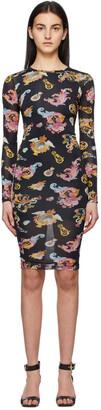 Versace Jeans Couture Black Pattern Dress