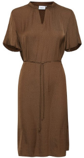 Saint Tropez Billie Dress - Rain Drum - Small. | chocolate brown | polyester - Chocolate brown