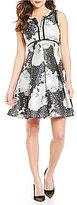 Antonio Melani Joy Sleeveless Printed Jacquard A-Line Dress