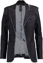 Norma Kamali Frayed denim jacket