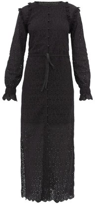 Sir - Amelia Broderie-anglaise Cotton Maxi Dress - Womens - Black