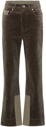 Ganni High-rise corduroy pants