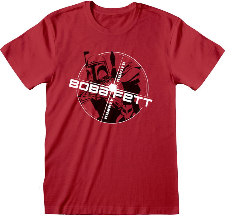 Thumbnail for your product : Star Wars Unisex Adult Boba Fett T-Shirt (Red)