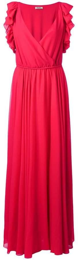 Liu Jo flared pleated maxi dress