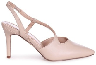 Linzi BERKELEY - Nude Nappa Wrap Around Sling Back Court Heel