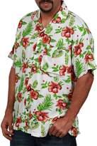 Ingear Casual Shirt Button Down Hawaiian Short Sleeve Cruise Rayon Summer Shirt (XLarge, )