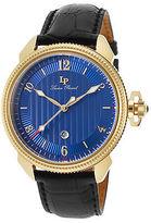 Lucien Piccard 40053-YG-03 Men's Trevi Black Genuine Leather Blue Dial