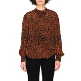 Calvin Klein Leopard Print Silk