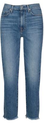 Seven London Fray Hem Straight Ankle Jeans
