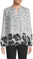 Karl Lagerfeld Women's Floral Blouse