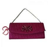Christian Dior Pink Cloth Clutch bag