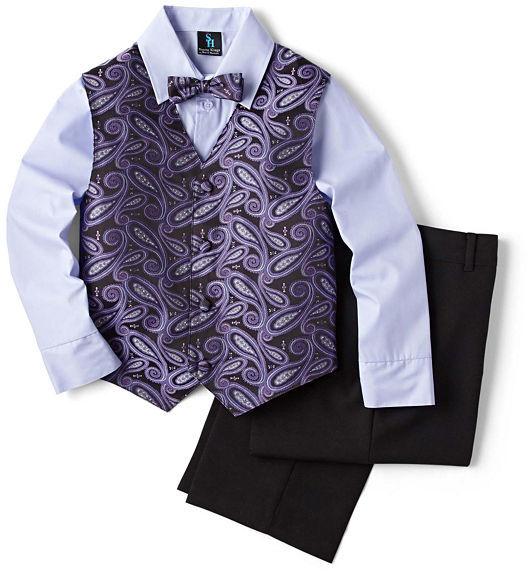 JCPenney Steve Harvey Paisley Vest Set - Boys 8-18