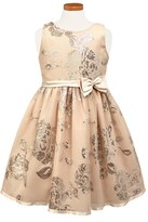 Sorbet Toddler Girl's Sequin Floral Fit & Flare Dress