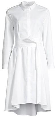 Peserico Pleated Flare Shirtdress