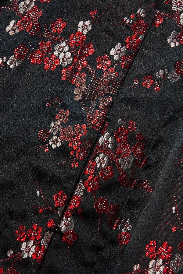 Thumbnail for your product : Comme des Garçons Comme des Garçons Paneled Metallic Satin-jacquard Blouse - Black