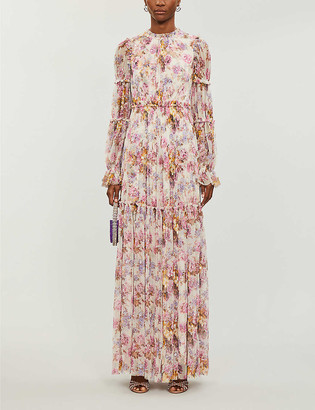 Needle And Thread Needle & Thread x Jasmine Hemsley Harmony floral-print recycled tulle gown