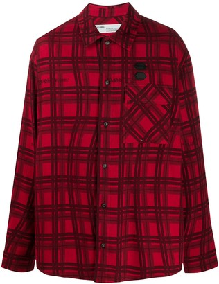 Off-White Checked Oversized Shirt