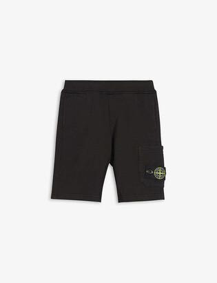 Stone Island Compass logo-patch cotton-jersey shorts 4-14 years