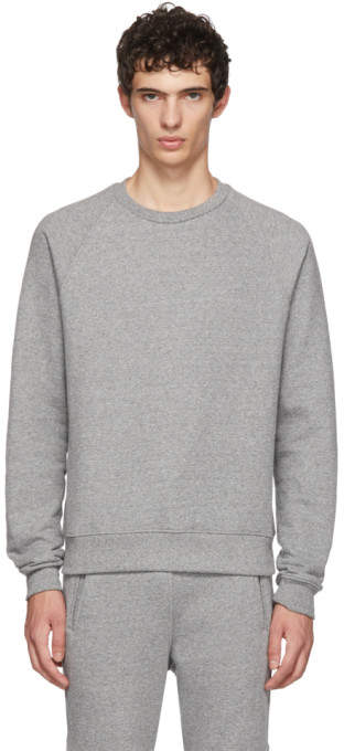 John Elliott Grey Raglan Sweatshirt