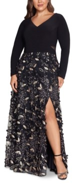 Xscape Evenings Plus Size Embellished-Skirt Gown