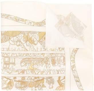 Hermes Pre Owned silk A La Gloire de Guillaume scarf