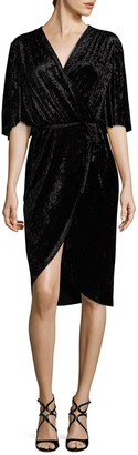 Alexia Admor Bell Sleeve Wrapped Dress