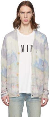 Amiri Multicolor Cashmere Tie-Dye Cardigan