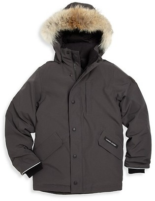 Canada Goose Little Boy's & Boy's Logan Coyote Fur-Trim Down Parka