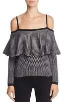 BB Dakota Debney Ruffle Cold-Shoulder Sweater