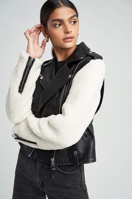 Mackage Baya Leather With Shearling Jacket