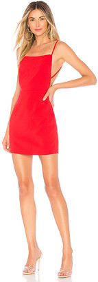 superdown Sabrina Lace Up Back Mini Dress
