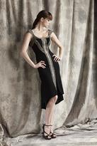 Theia Beaded Scoop Neck Dress 881306