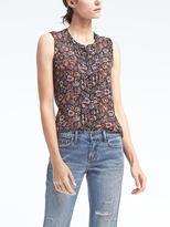 Banana Republic Dillon-Fit Floral Sleeveless Shirt