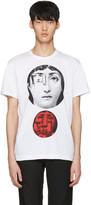 Comme des Garcons White Face Print T-Shirt