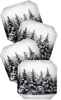 DENY Designs Chelsea Victoria Snow And Pines Coaster Set