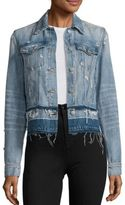 J Brand Deena Cropped Released Hem Denim Jacket
