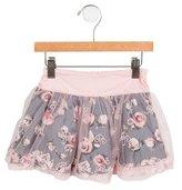 Blumarine Girls' Tulle Rose Print Skirt