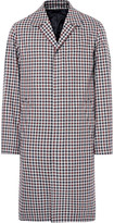Ami - Checked Cotton And Virgin Wool-blend Coat