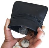 AG Jeans A&G Wallets Genuine Leather Squeeze Coin Change Purse With Master Key Ring