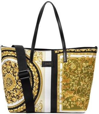 Versace Kids Baby Barocco Mosaic changing bag with mat and pouch