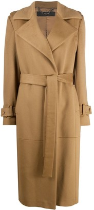 FEDERICA TOSI Belted Camel Coat