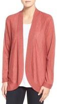 Eileen Fisher Tencel ® Blend Oval Cardigan (Regular & Petite)