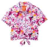 Joe Fresh Floral Tie Top (Toddler & Little Girls)